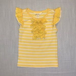 Matilda Jane Yellow Ruffle Top